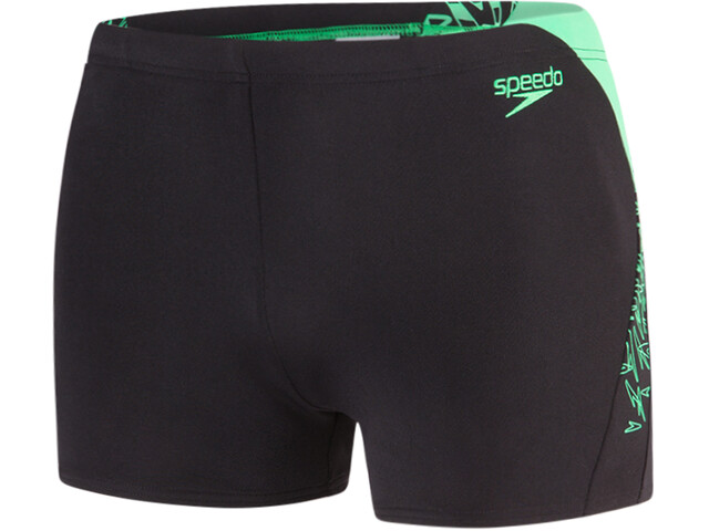 speedo Boom Splice Aquashorts Men Black/Fake Green